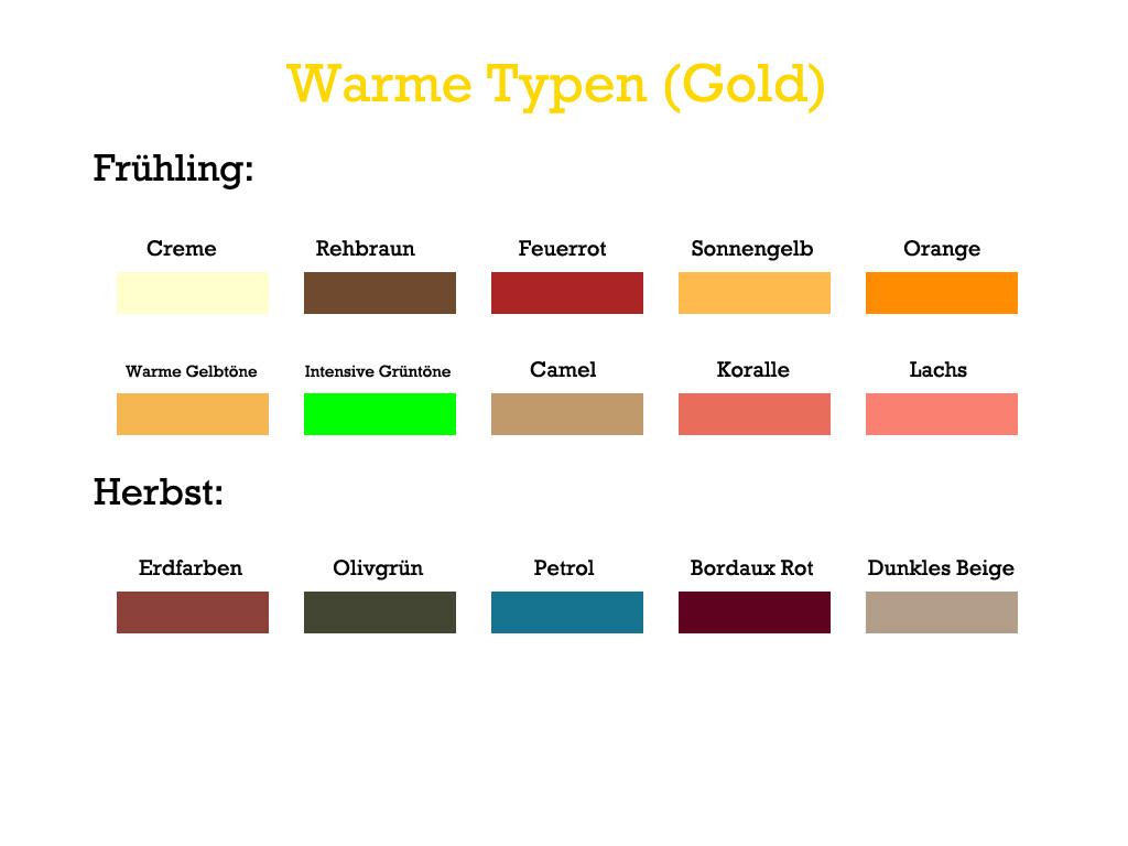Farbwahl bei Abendkleider - Warme Typen