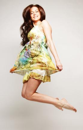 leichtes Chiffon Kleid